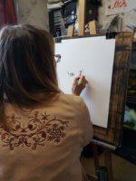 Как мы рисуем портрет сухой кистью