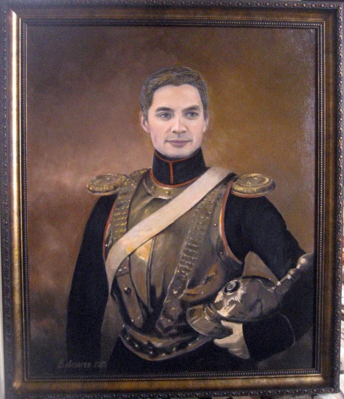 Исторический портрет, монтаж в картину