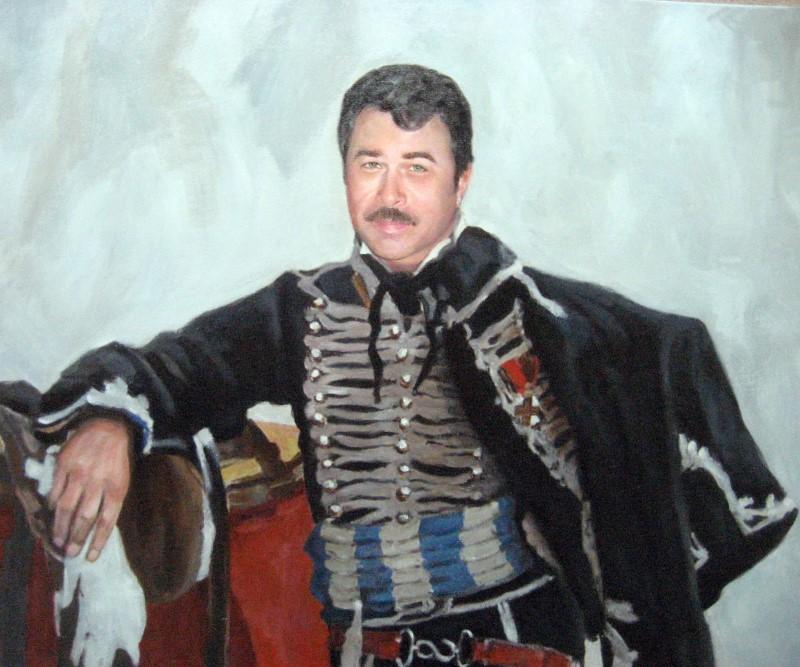 Мужской портрет в образе гусара