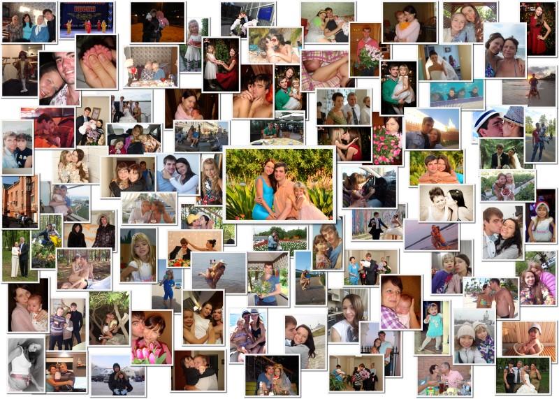 Коллаж из фотографий на день рождения мужу