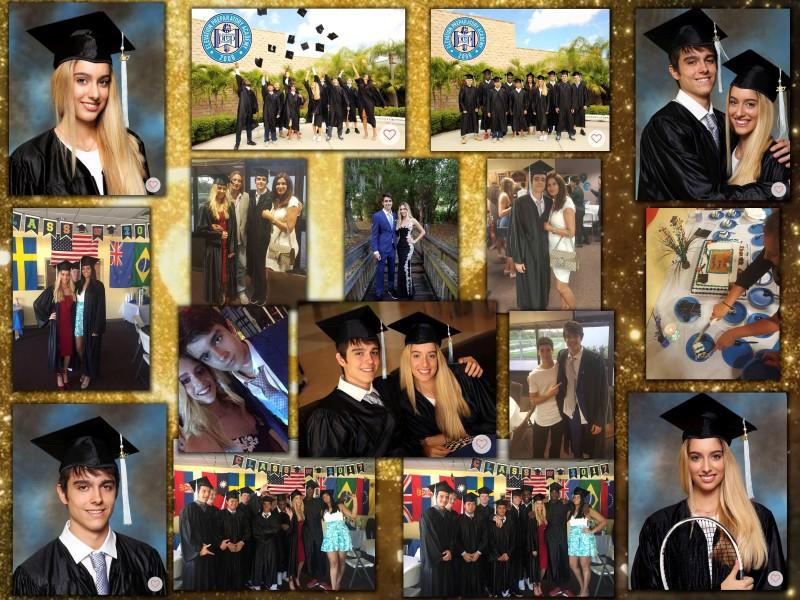 Коллаж из фотографий на выпускной