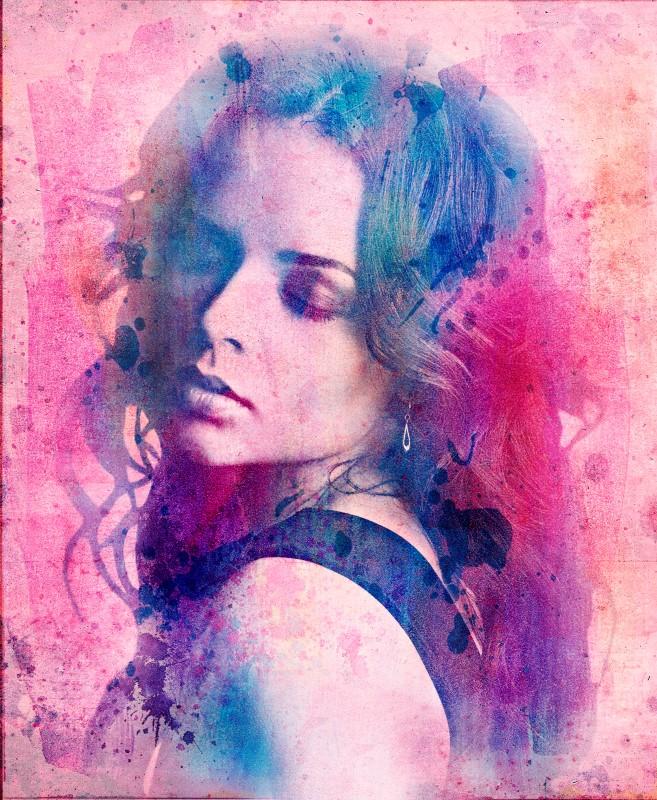 Гранж портрет девушки