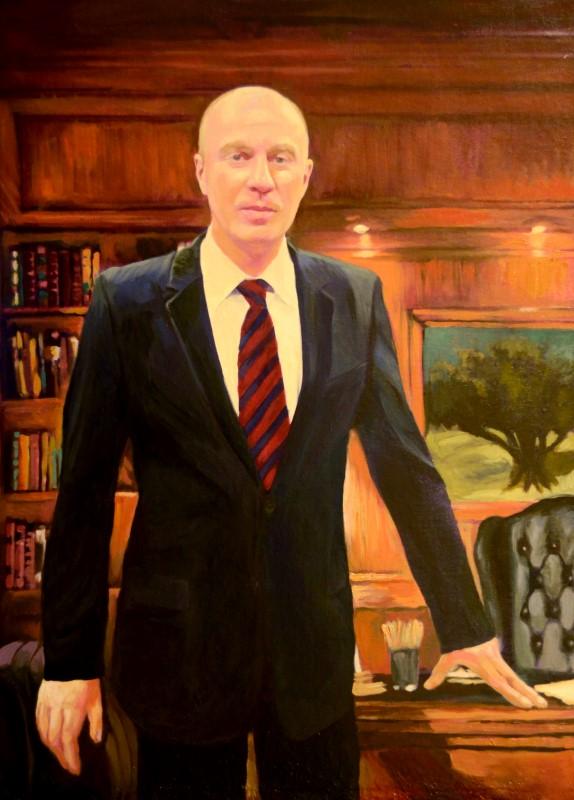 Поясной портрет мужчины, масло