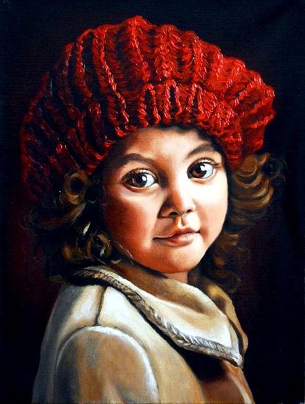 Портрет девочки, масло
