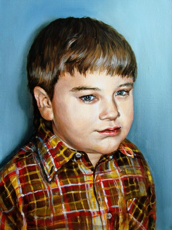 Портрет мальчика на заказ, масло