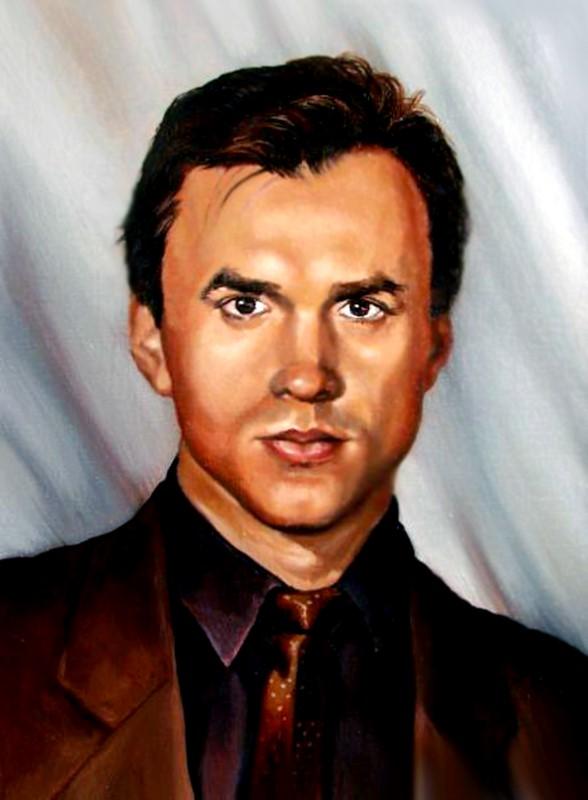 Мужской портрет, масло