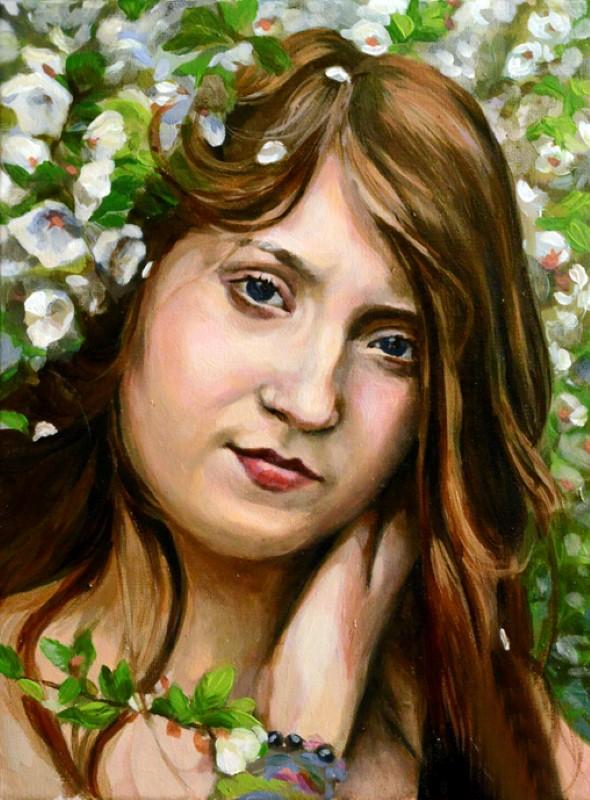 Портрет женщины, масло