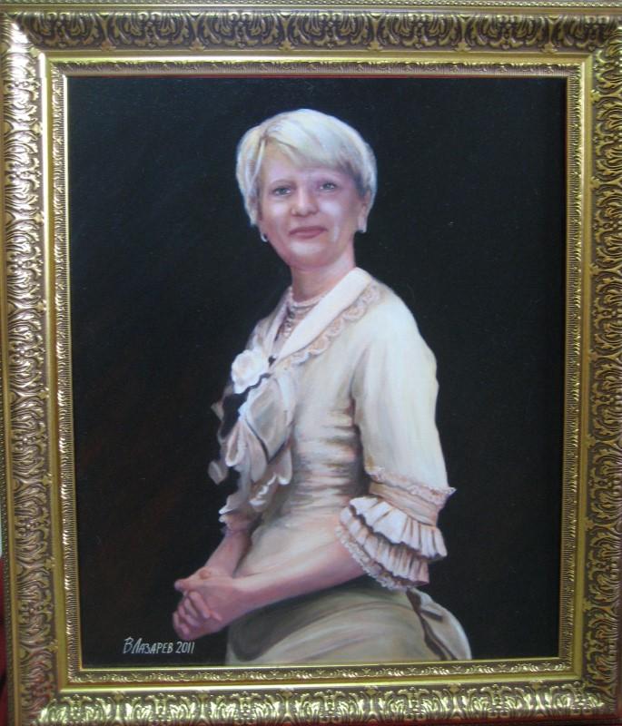 Женский портрет маслом по фотографии