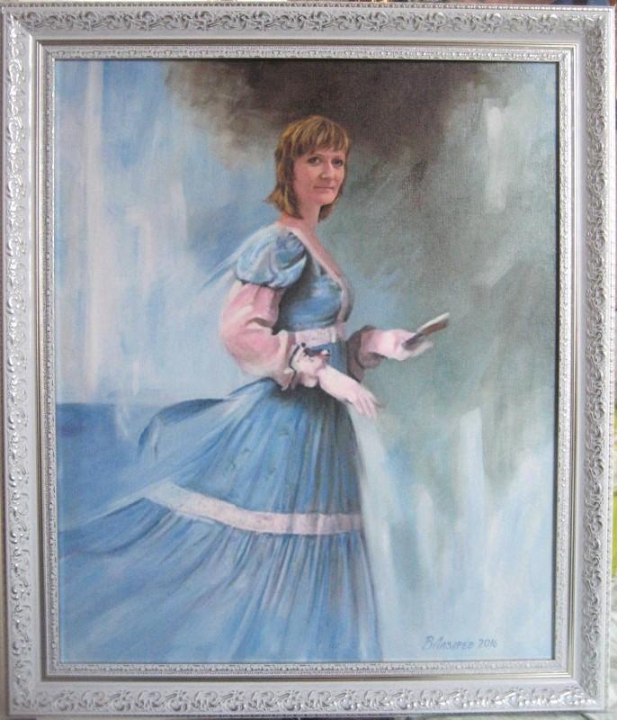 Женский портрет по фото маслом на заказ