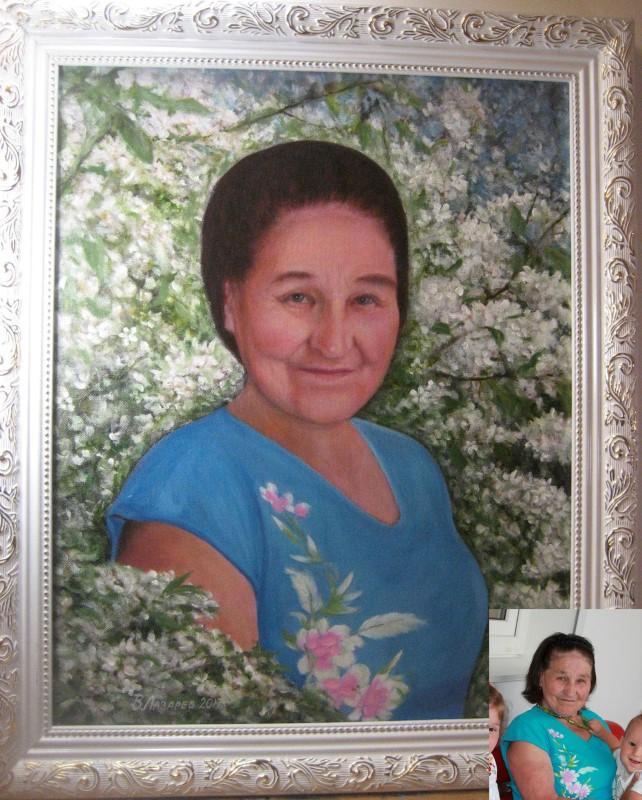 Портрет пожилой женщины, холст, масло