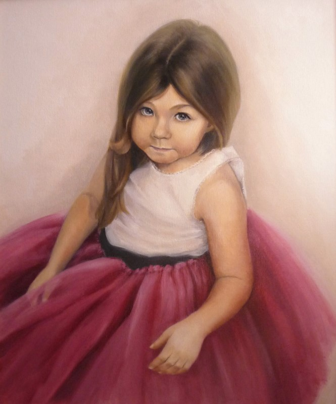 Портрет девочки, масло, холст