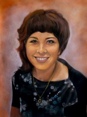 Портрет девушки по фото, пастель