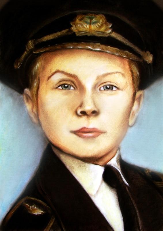 Портрет мальчика, пастель