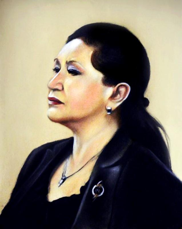 Портрет женщины, цветной, пастель