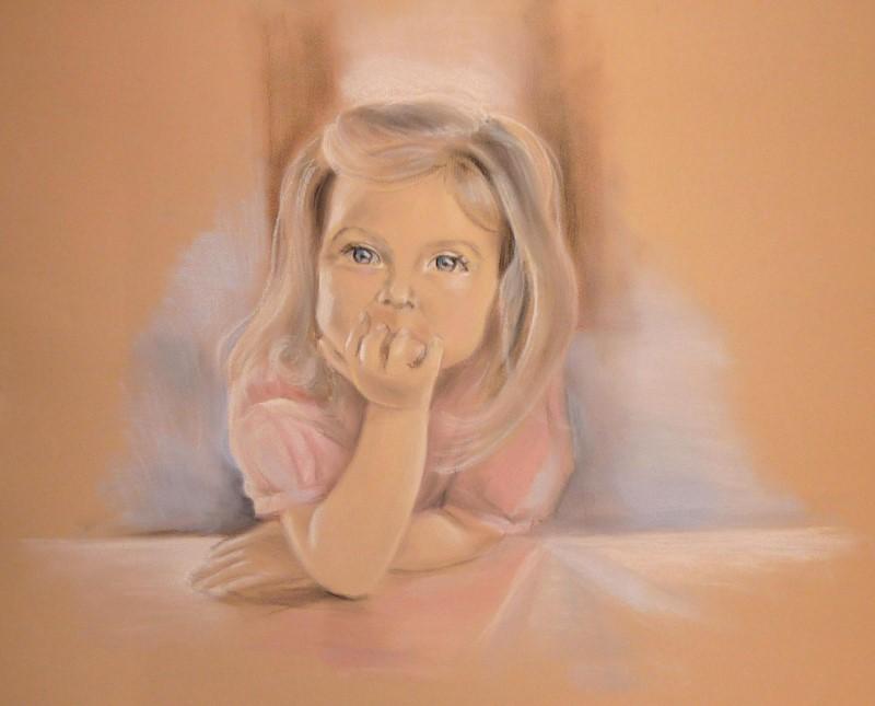 Портрет девочки, пастель