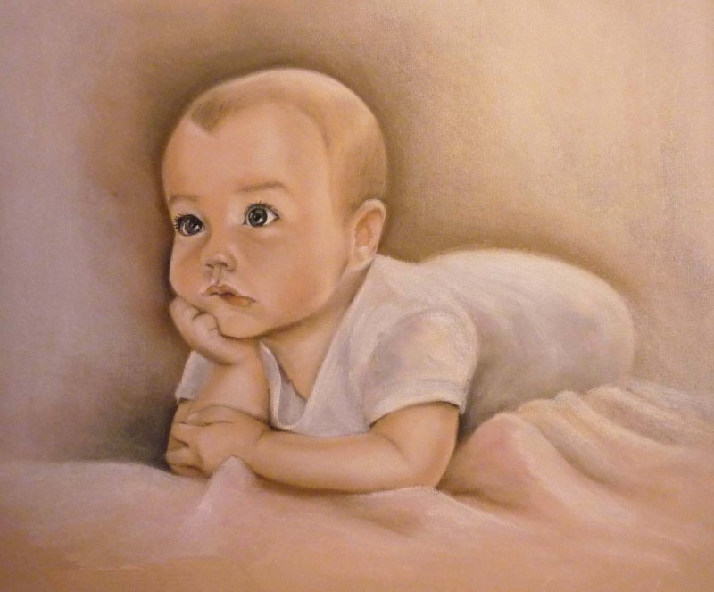 Портрет ребенка, пастель