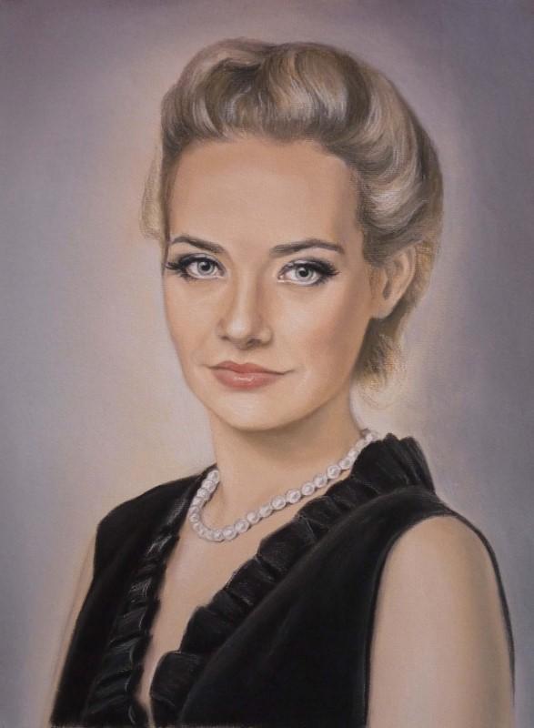 Женский портрет, пастель