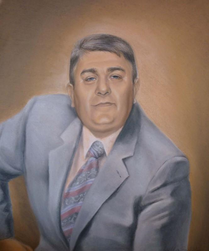 Портрет мужчины, пастель
