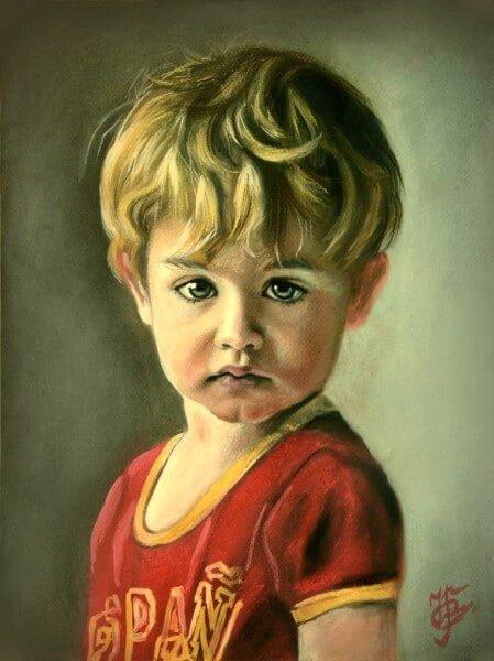 Портрет пастелью детский