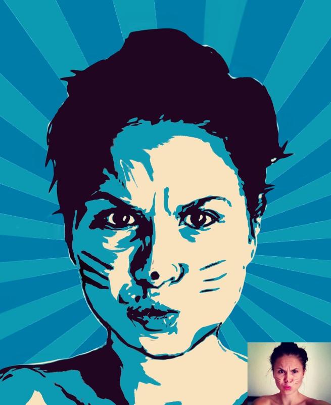 Поп-арт портрет женский