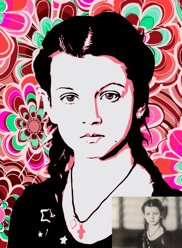 Портрет девочки в стиле Поп-арт