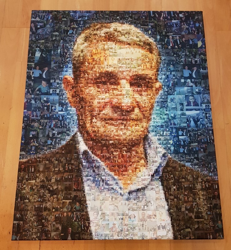 Мужской портрет из фотографий - мозаика