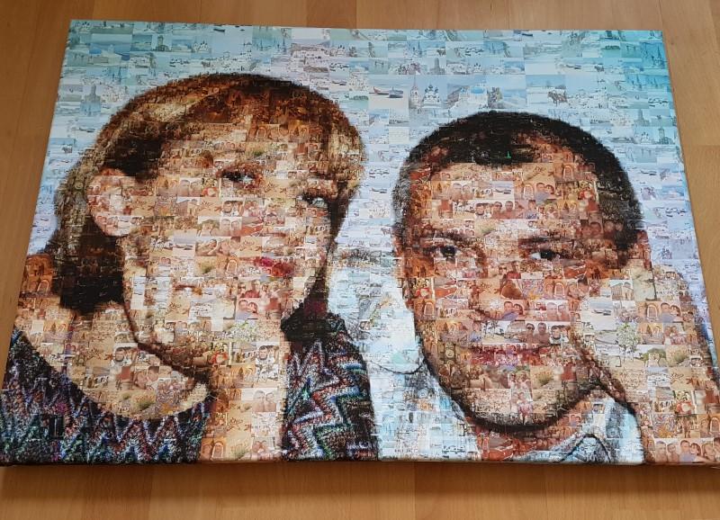 Портрет парный из фотографий - мозаика