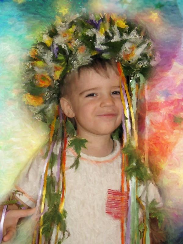 Портрет ребенка, стилизация