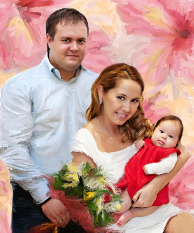 Семейный портрет, стилизация