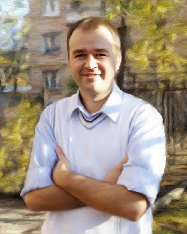 Портрет мужчины, стилизация