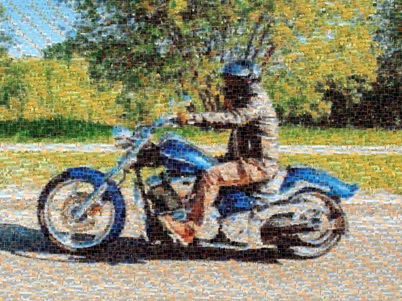 Мозаика из фотографий Мотоцикл