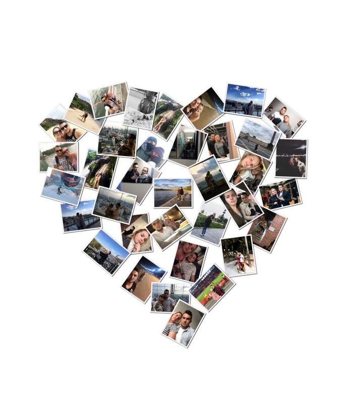 Сердце из фотографий коллаж