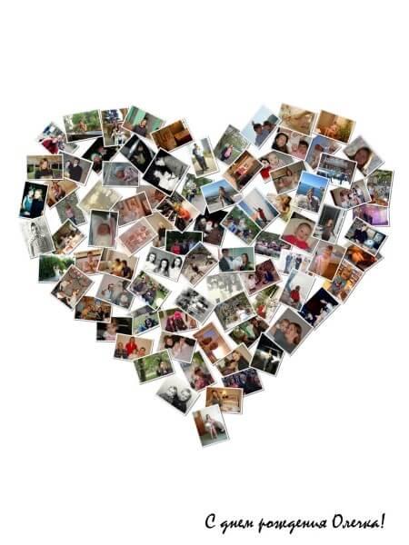 Коллаж сердце из фотографий