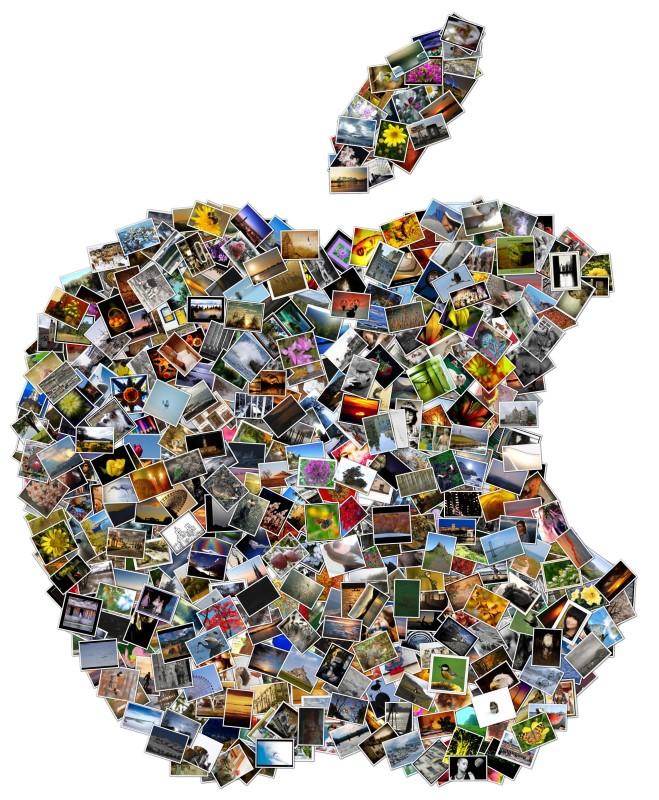 Коллаж силуэт Apple