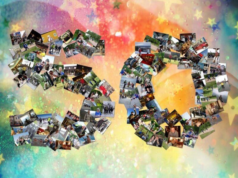 Коллаж на юбилей в виде цифры 50