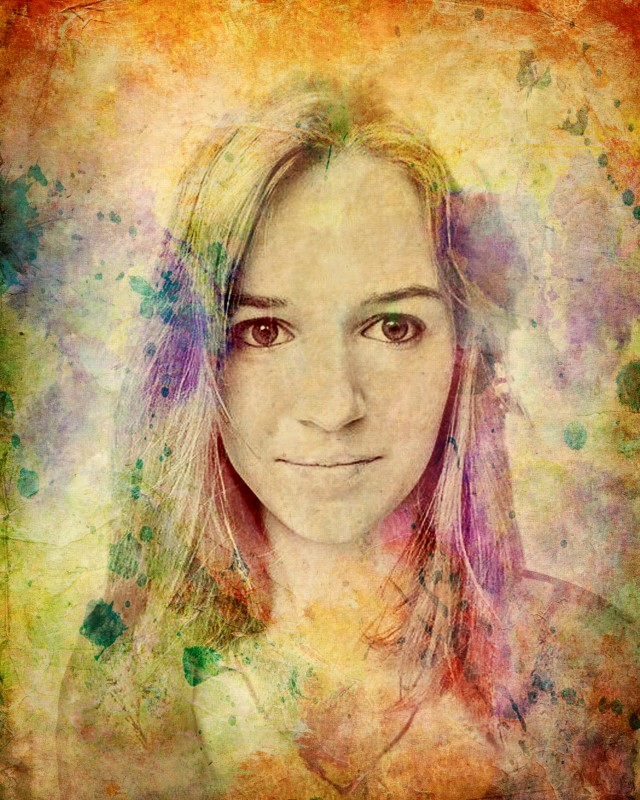 Портрет девушки в стиле гранж