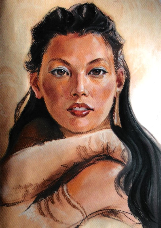 Портрет девушки, пастель
