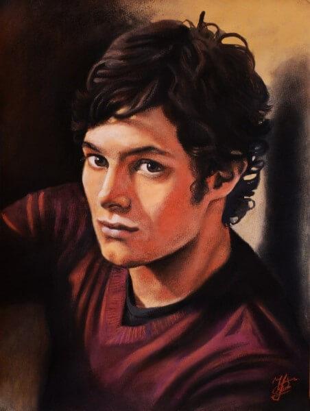 Мужской портрет пастелью