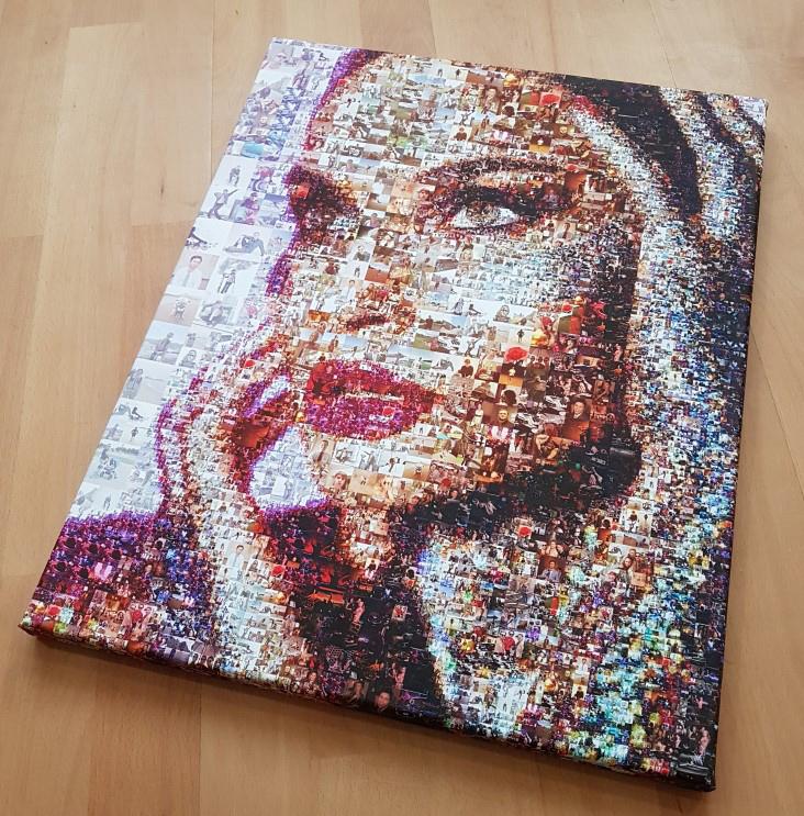 Портрет из фотографий - мозаика