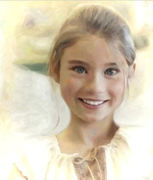 Портрет девочки, стилизация